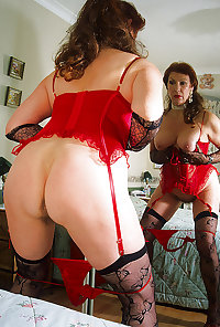 Horny grannies in stockings 01