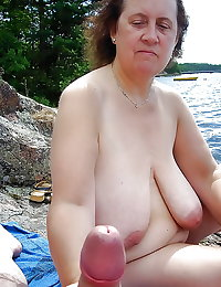 BBW matures and grannies at the beach (57)